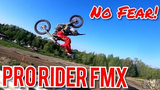 Pro Rider FMX 175 foot Jumps, Backflips and More! FPV FREESTYLE CINEMATIC фото