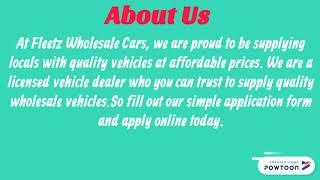 Bad Credit Finance car Dealers | Fleetz Wholesale Cars