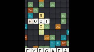Picture of a game: Wordfeud