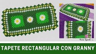 Tapete Rectangular Granny A Crochet Para Inodoro | Curso De Grannys En Vivirtejiendo