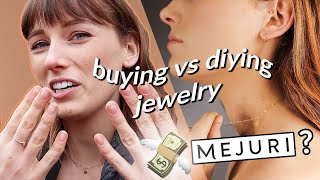 buying vs DIYing REAL gold jewelry