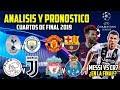 ANÁLISIS Y PREDICCIÓN De Los Cuartos De Final De La Champions League 2018/19