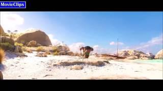 Moana-Maui Leaves Moana On The Island And Takes her Boat Scene (HD)