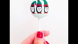 How To Paint Christmas Penguin Cake Pops - Christmas Cake Pops!