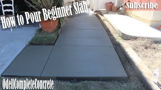 How To Pour A Beginners Concrete Slab Walkway   DIY