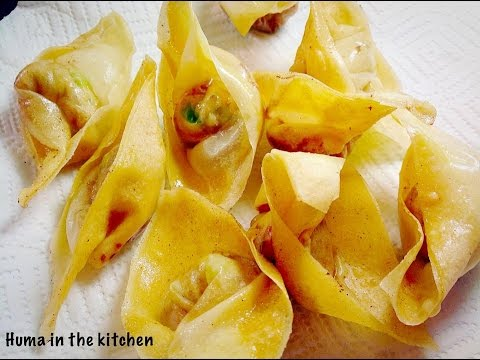 Chinese Fried Wontons Recipe | Chicken Wontons by (Huma in the kitchen)