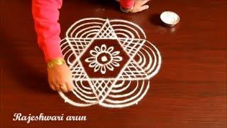 Sankranthi Special Rangoli Designs With Dots * Pongal kolam design 2018 * Sankranthi muggulu