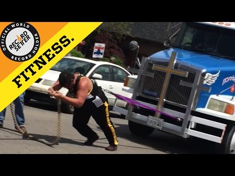 Heaviest Truck Harness Pull By A Teenager!