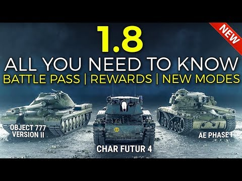 Battle Pass, Rewards, Frontline 2020 and More! | World of Tanks Update 1.8 Patch Review