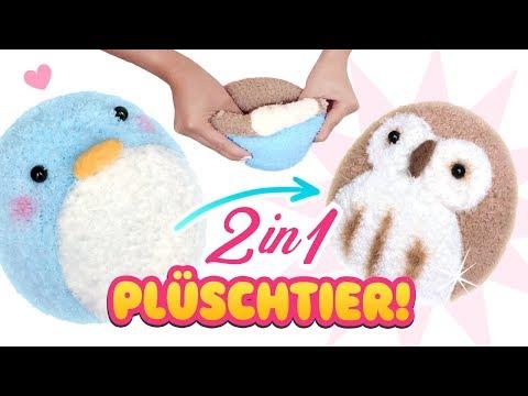 DIY 2 in 1 PLÜSCHTIER!!! 😍 Stofftier aus Socken! Einfach Spielzeug selber machen Anleitung Deutsch