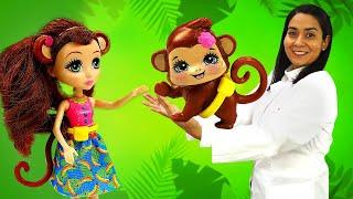 ENCHANTIMALS Puppen bei Doktor Aua. Spielzeug Video für Kinder