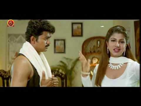 Rambha Breaks Idol - Rambha Trying To Kiss Vijay - Dheema Movie Scenes