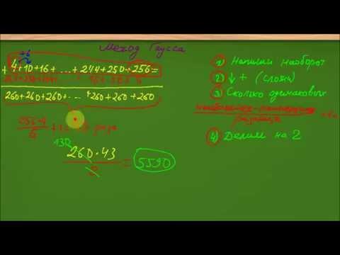 Быстрое вычисление суммы Методом Гаусса