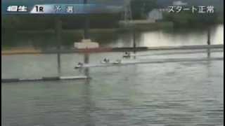 【競艇事故】衝突→消波装置飛び越える(桐生)2015/8/14