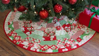 How To Make June Tailor's Quilt As You Go Tree Skirt | A Shabby Fabrics Tutorial