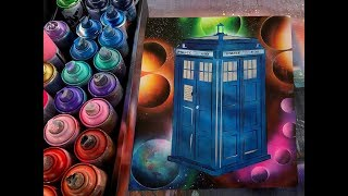 The Tardis - Doctor Who? SPRAY PAINT ART By Eden