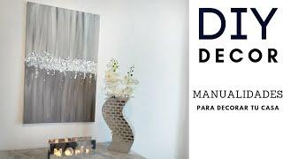 DIY CANVAS PAINTING HOME DECOR - MANUALIDADES PARA DECORAR - COMO PINTAR CUADROS
