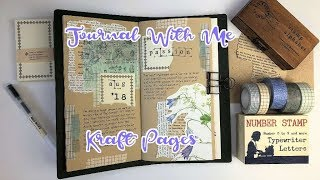 Journal With Me | Travelers Notebook | Kraft Pages
