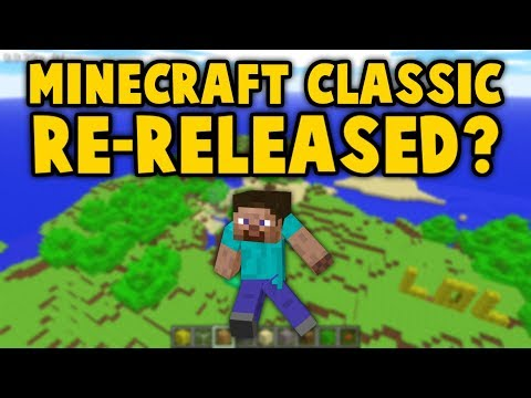 Minecraft Classic RE-RELEASED For FREE (10 Year Anniversary)