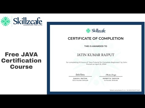 java certification online free with full proof - YouTube