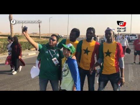 برسم الأعلام والسيلفي.. جماهير الجزائر والسنغال يزحفون لـ«ستاد الدفاع الجوي»