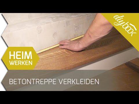 Betontreppe verkleiden - Treppenverkleidung mit Holz