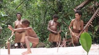 Sago Processing - Korowai Tribe, Papua. Proses pembuatan sagu Suku Korowai Papua