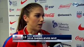 USWNT - Alex Morgan: Pre-Match Interview SheBelieves Cup v. England (FOX Sports) - 3-4-17