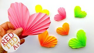 Easy Paper Heart Origami - How To Make A Paper Heart 3D - Paper Heart DIY