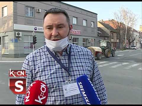 Dezinfekcija ulica u opštini Šid