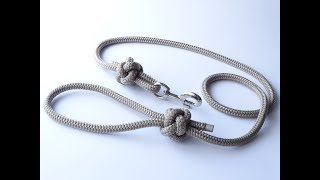How To Make A Simple Single Rope/Diamond Knot Dog Leash - CBYS