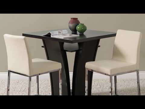 Video for Huntington Grey Fabric Counter Height Bar Stools with Chrome Legs, Set of 2