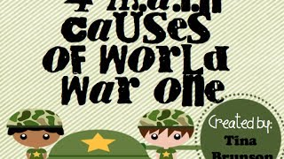 WWI Causes 1914-1918