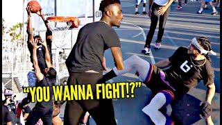 """""""YOU WANNA FIGHT!?"""" Trash Talkers Were Talking CRAZY at Wanted To FIGHT!? Venice Beach HEATED 5v5"""