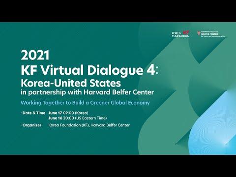 2021 KF Virtual Dialogue4:  Korea-United states in partnership with Harvard Belfer Center