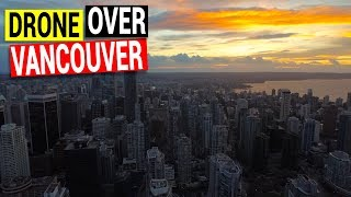 Drone Over Vancouver B.C. Canada