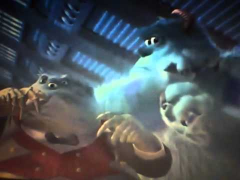 Monsters Inc competition between Randall and Sully