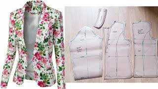 Sewing Tutorial |How To Sew Womens Jacket/Blazer |Notched-collar Jacket