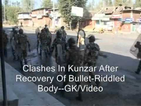 Clashes In Kunzar After Recovery Of Bullet-Riddled Body