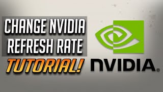 How to Change Screen Refresh Rate With NVIDIA Control Panel - Fix 144Hz Showing 60Hz Tutorial