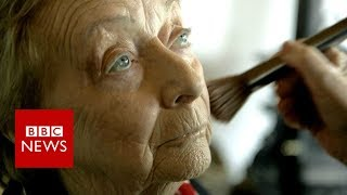 My 84-year-old husband now does my make-up - BBC News