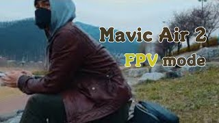 Mavic Air 2 drone FPV mode during flight practice / 메빅에어2 드론 FPV모드 연습 중