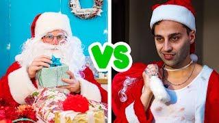 Good Santa vs Bad Santa