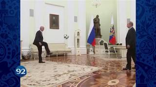 100 дней до ЧМ-2018 по футболу: Путин и Инфантино чеканят мяч в видеоролике ФИФА