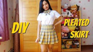 DIY Pleated Skirt    How To Sew A Mini Skirt    Harajuku Plaid Skirt
