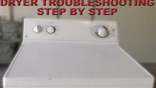 Dryer Troubleshooting Step by Step