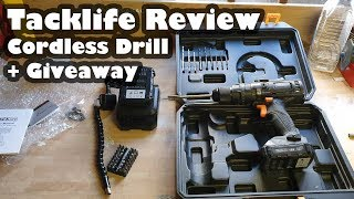 TACKLIFE Cordless Drill Unboxing and Review