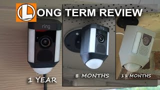 Ring Spotlight Cameras Long Term Review - Wired, Battery And Mount Versions