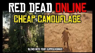 TWO VERY EFFECTIVE CAMO OUTFITS FOR RED DEAD ONLINE PVP FOR UNDER $100 RDR2