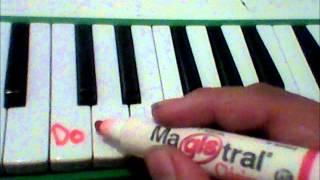 Como Tocar la Melodica clase 2 (notas de la melodica teclas blancas)